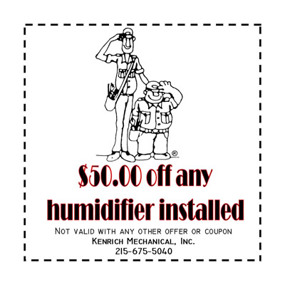 $50 off Humidifier Installed